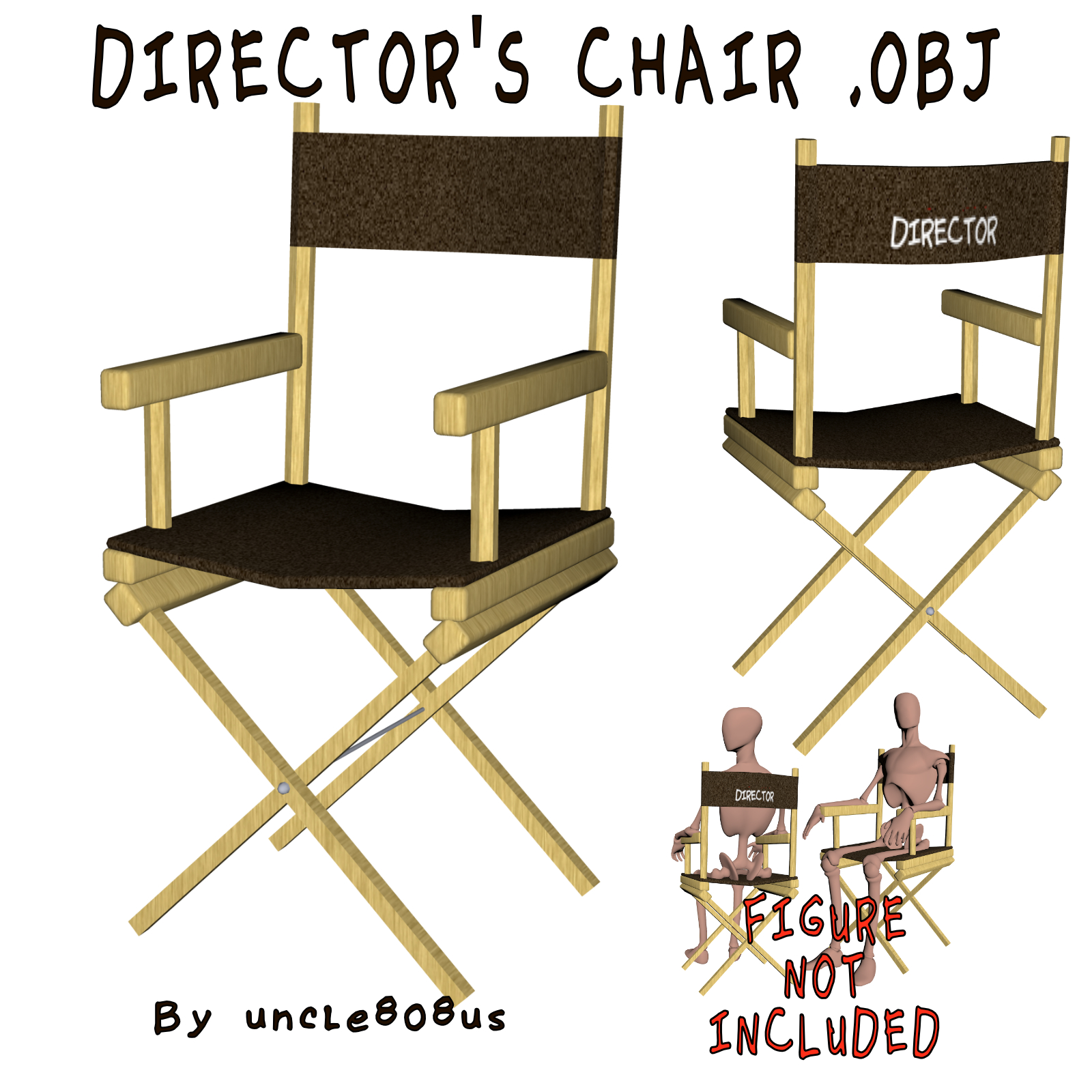 director's chair 3d object 3d model other obj 274165
