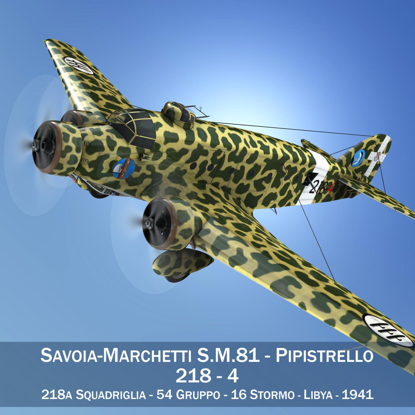 savoia-marchetti s.m.81 pipistrello 3d model 3ds fbx c4d lwo obj 274184