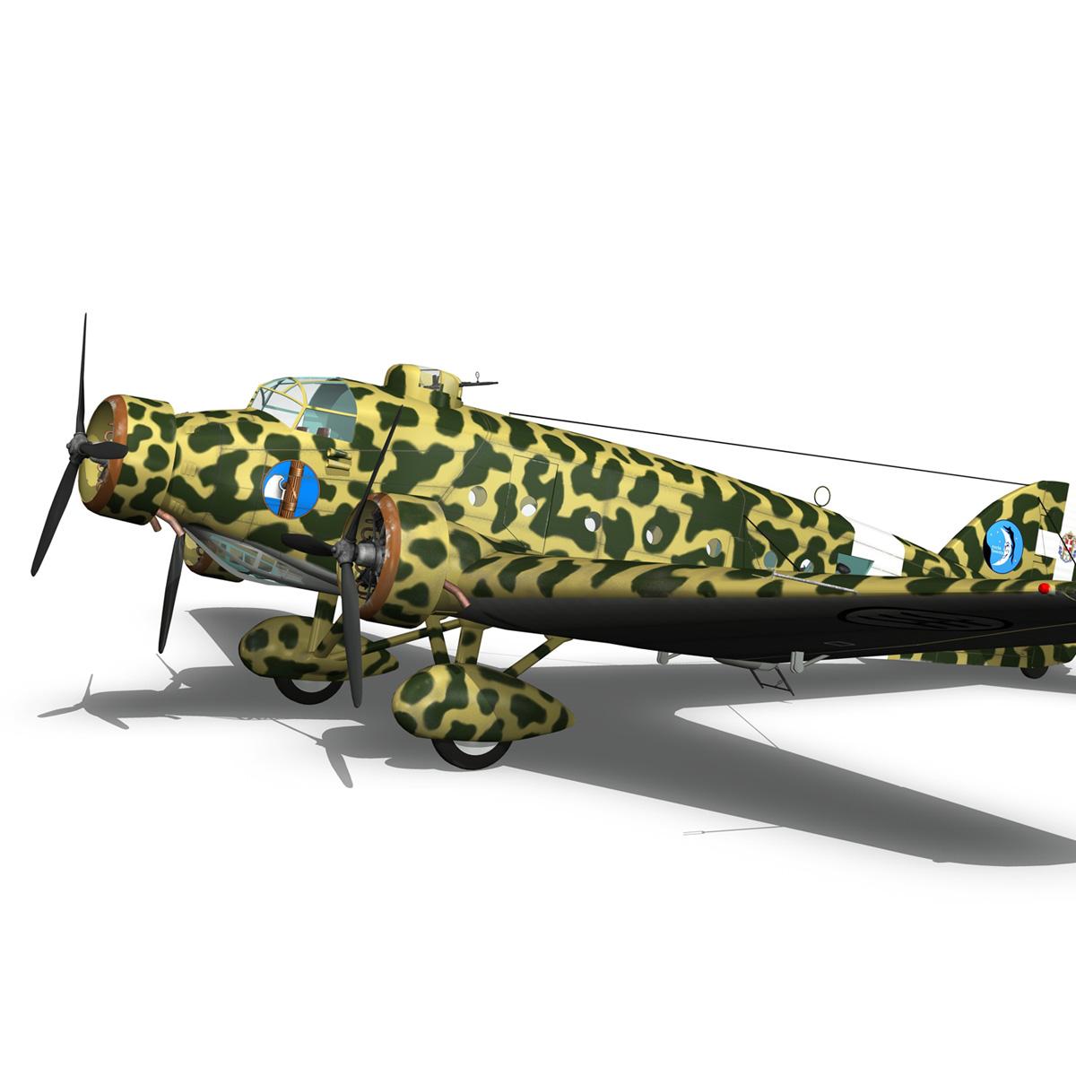 savoia-marchetti sm81 pipistrello model 3d 3ds fbx c4d lwo obj 274194