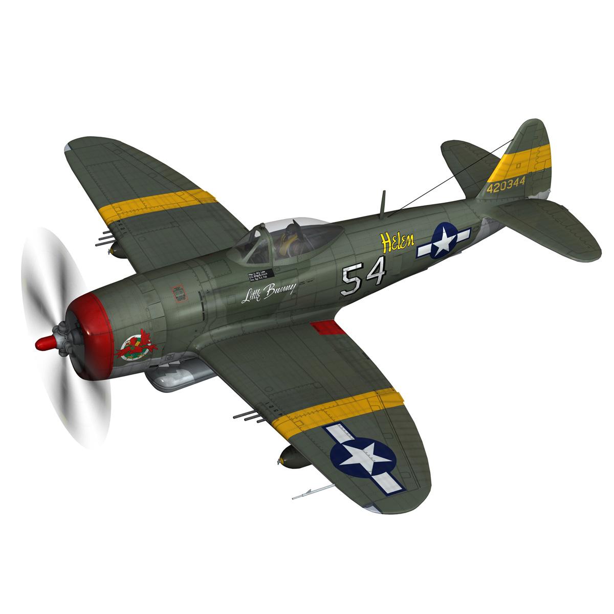 republic p-47d thunderbolt – little bunny 3d model fbx c4d lwo obj 274222