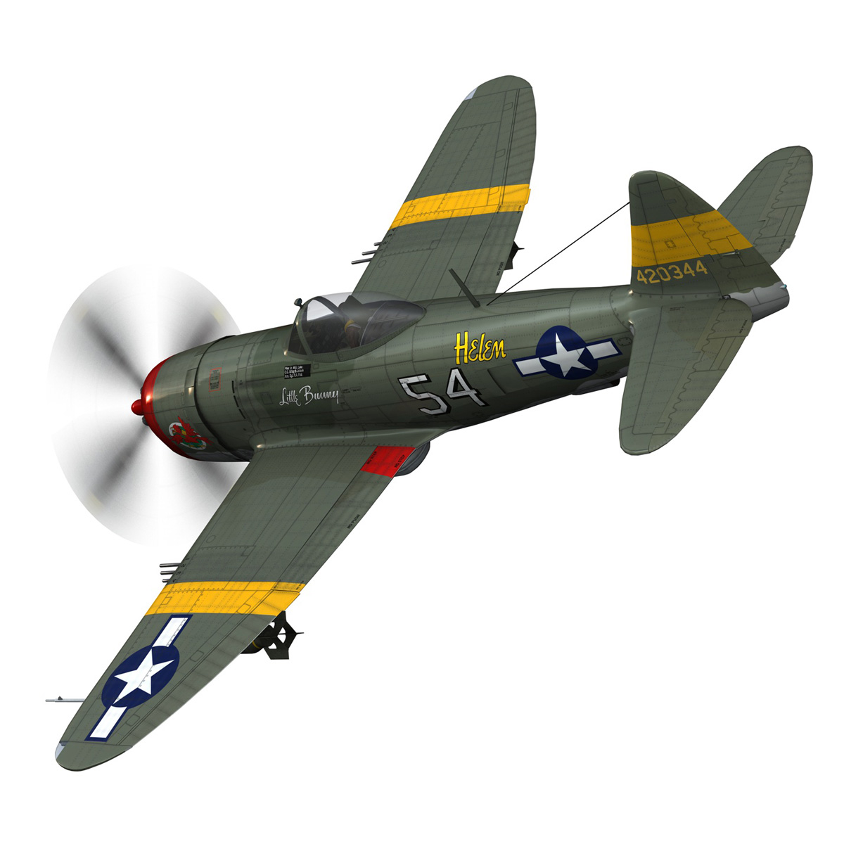 republic p-47d thunderbolt – little bunny 3d model fbx c4d lwo obj 274223