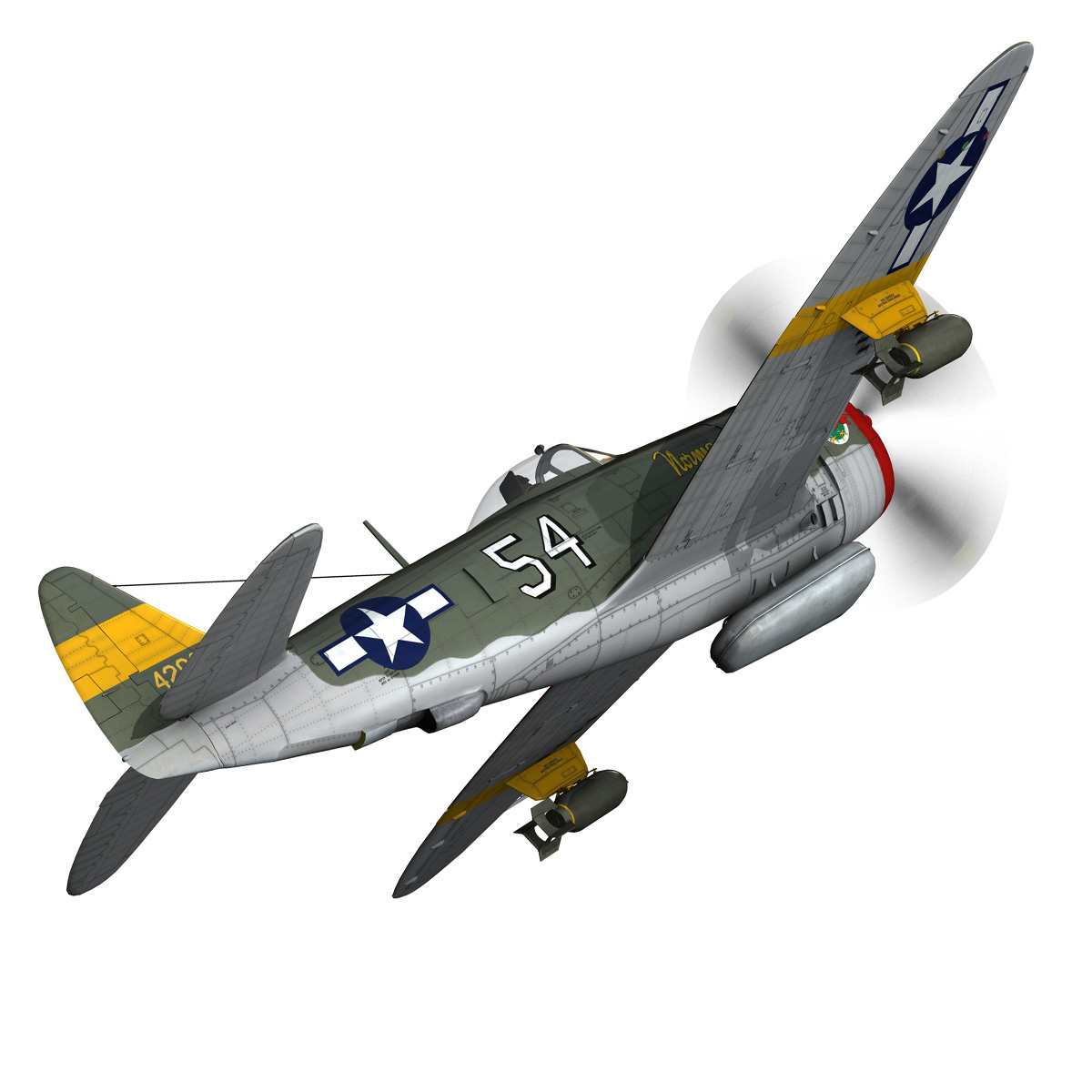 republic p-47d thunderbolt – little bunny 3d model fbx c4d lwo obj 274224
