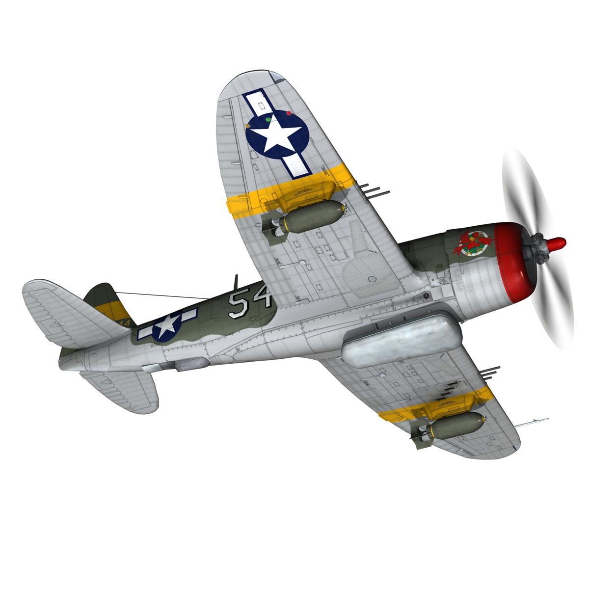 republic p-47d thunderbolt – little bunny 3d model fbx c4d lwo obj 274226