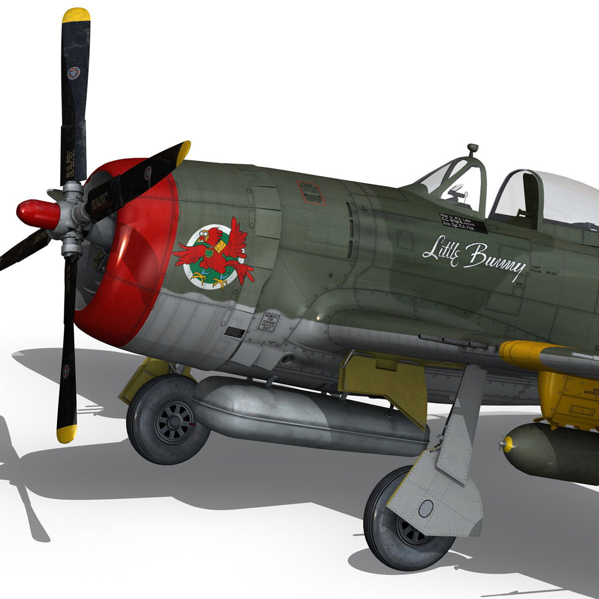 republic p-47d thunderbolt – little bunny 3d model fbx c4d lwo obj 274227