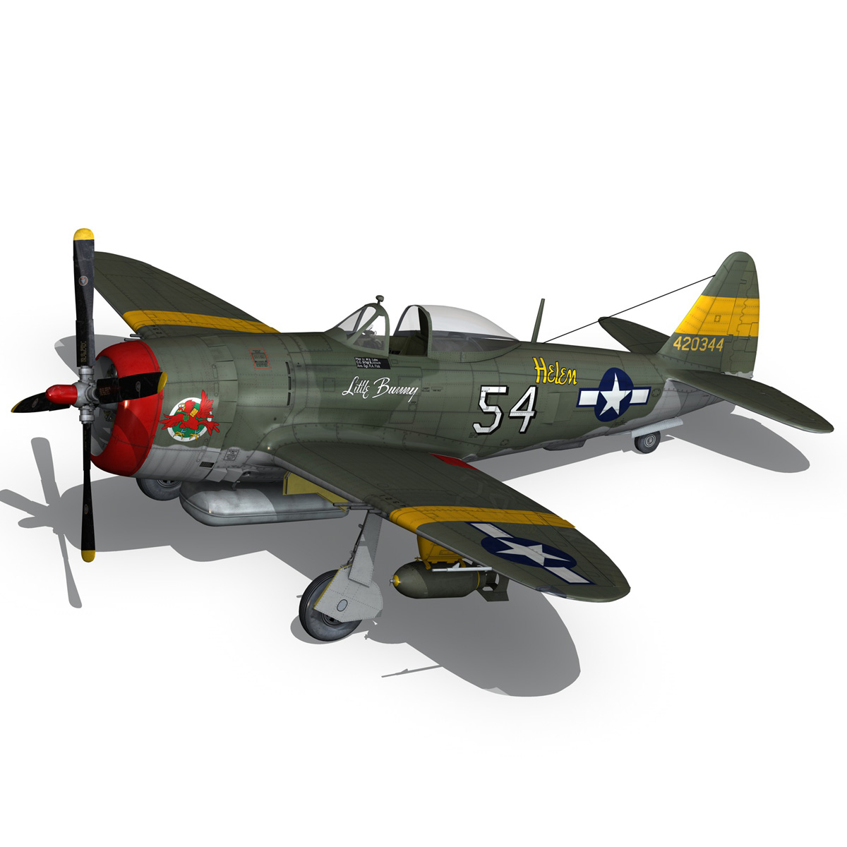 republic p-47d thunderbolt – little bunny 3d model fbx c4d lwo obj 274228