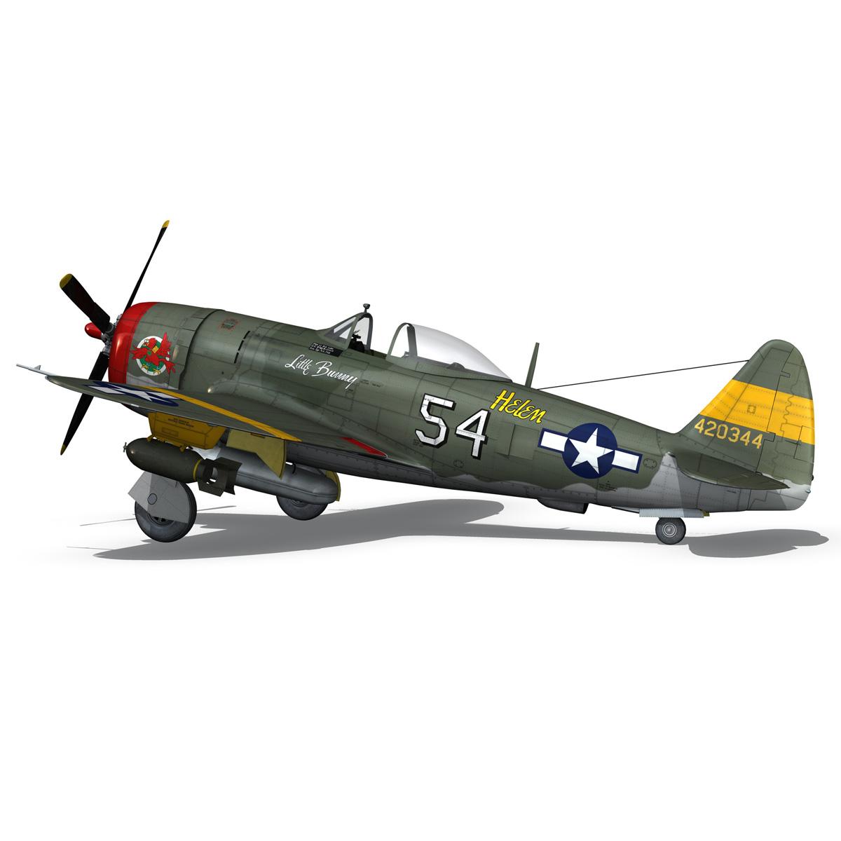 republic p-47d thunderbolt – little bunny 3d model fbx c4d lwo obj 274229