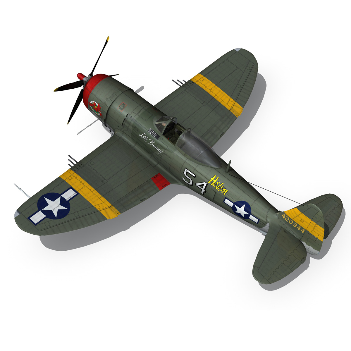 republic p-47d thunderbolt – little bunny 3d model fbx c4d lwo obj 274230