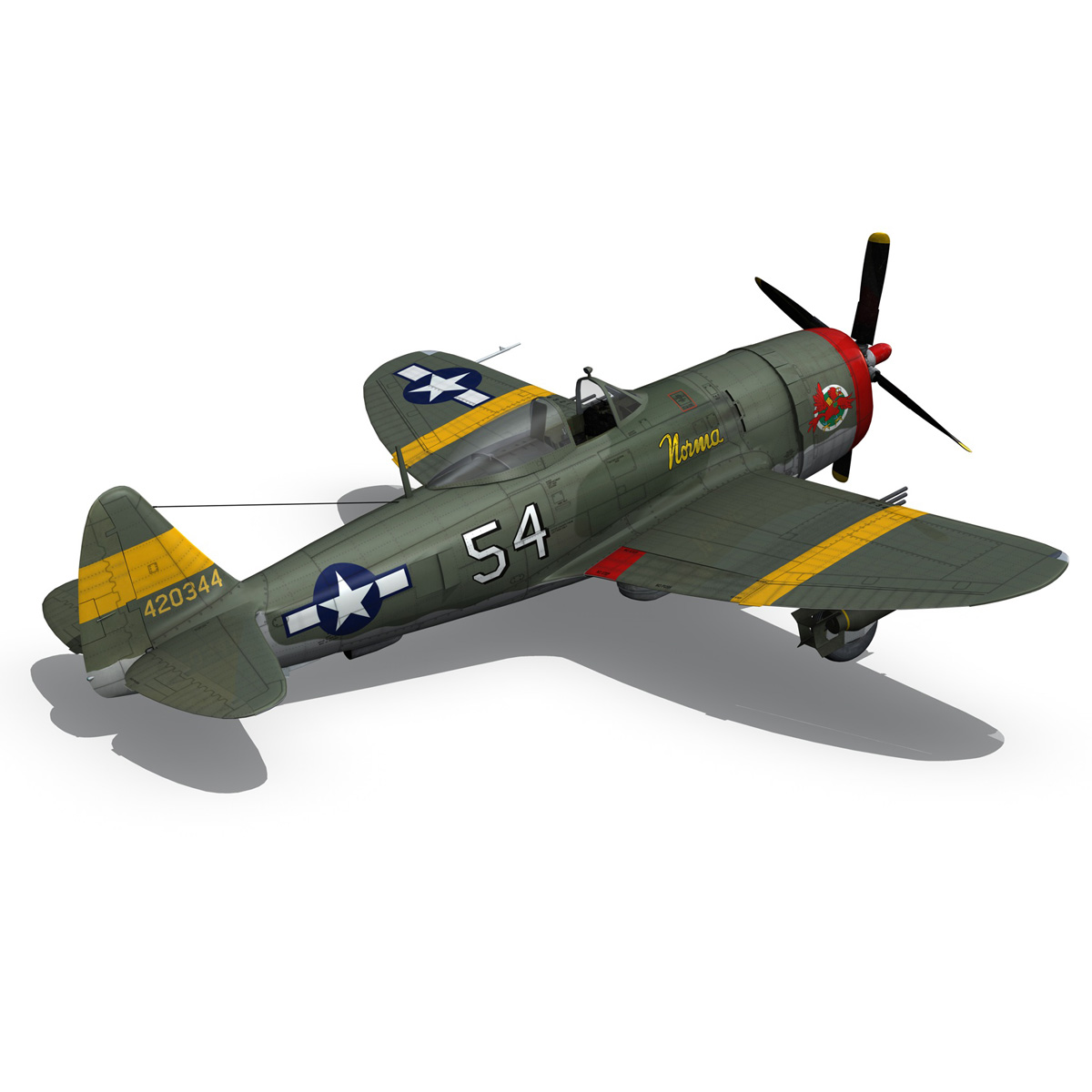 republic p-47d thunderbolt – little bunny 3d model fbx c4d lwo obj 274231
