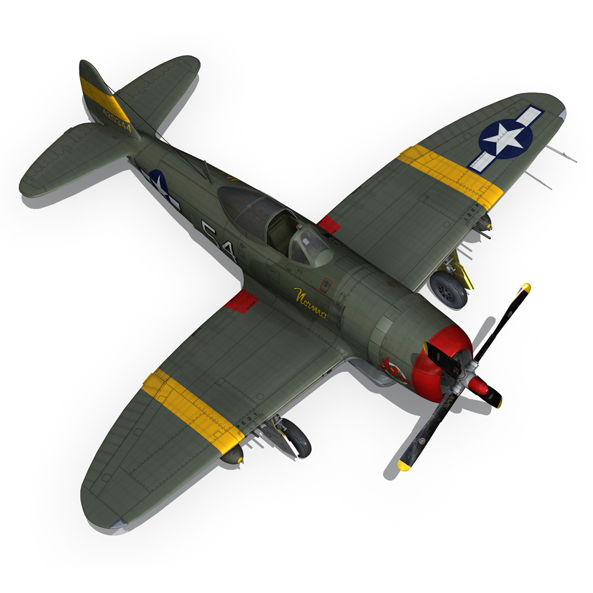 republic p-47d thunderbolt – little bunny 3d model fbx c4d lwo obj 274233