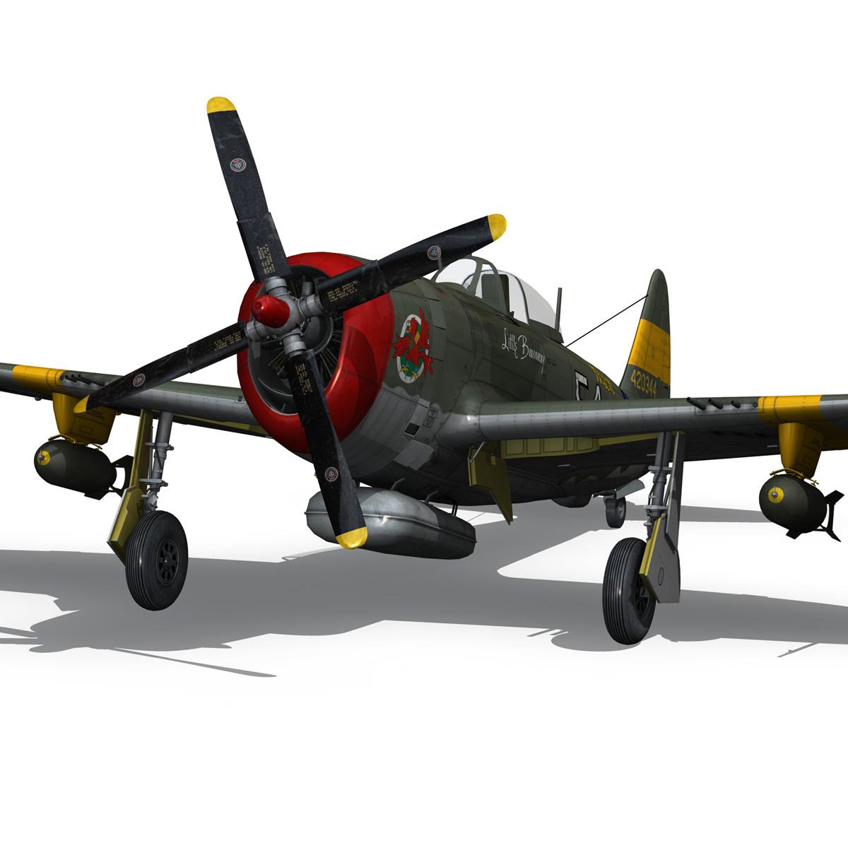 republic p-47d thunderbolt – little bunny 3d model fbx c4d lwo obj 274234