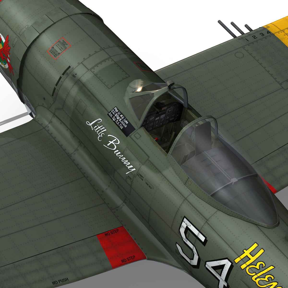 republic p-47d thunderbolt – little bunny 3d model fbx c4d lwo obj 274235