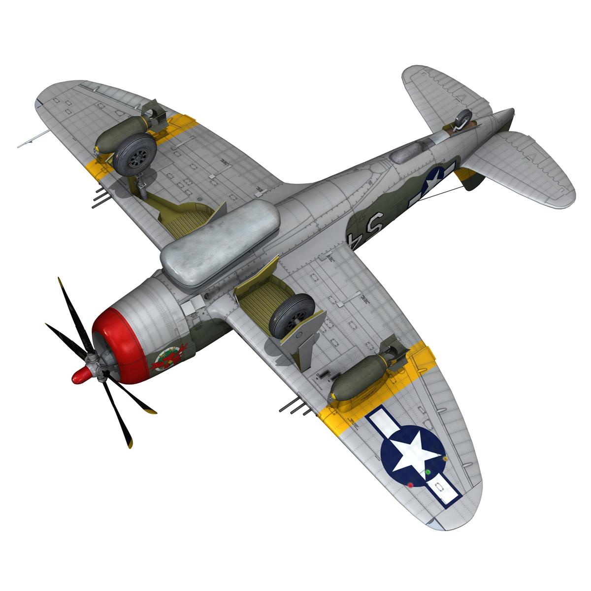 republic p-47d thunderbolt – little bunny 3d model fbx c4d lwo obj 274236