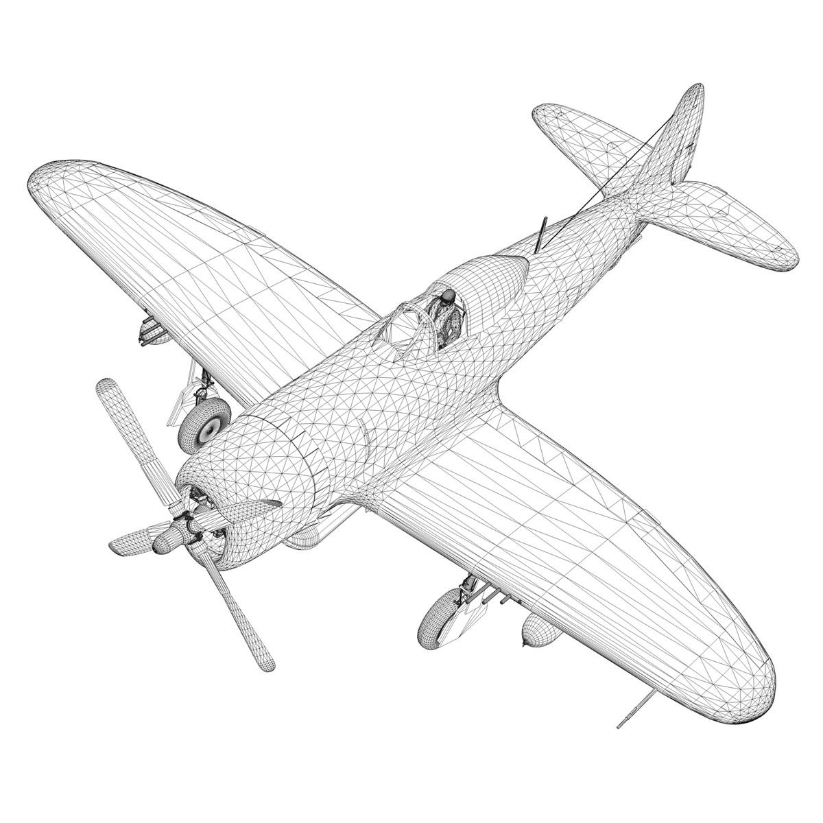 republic p-47d thunderbolt – little bunny 3d model fbx c4d lwo obj 274240