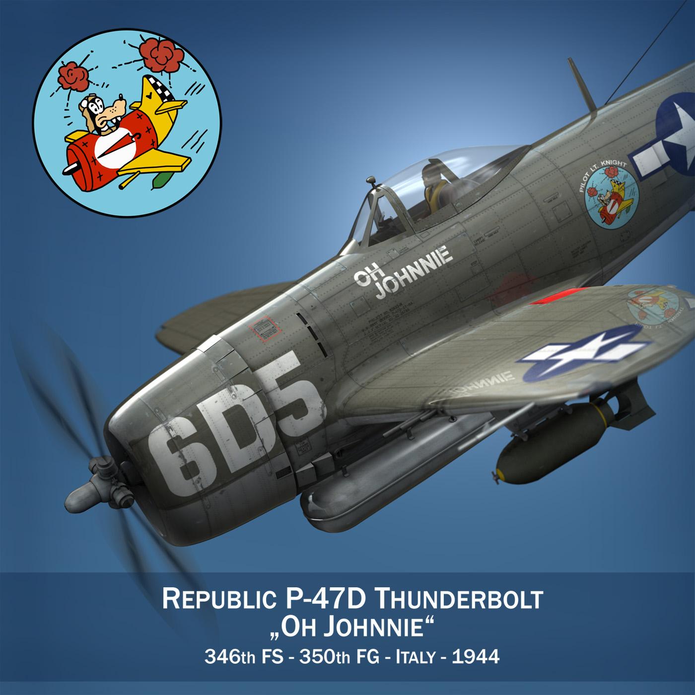 Republic P-47 Thunderbolt - Oh Johnnie 3d model fbx c4d lwo lws lw obj 274247