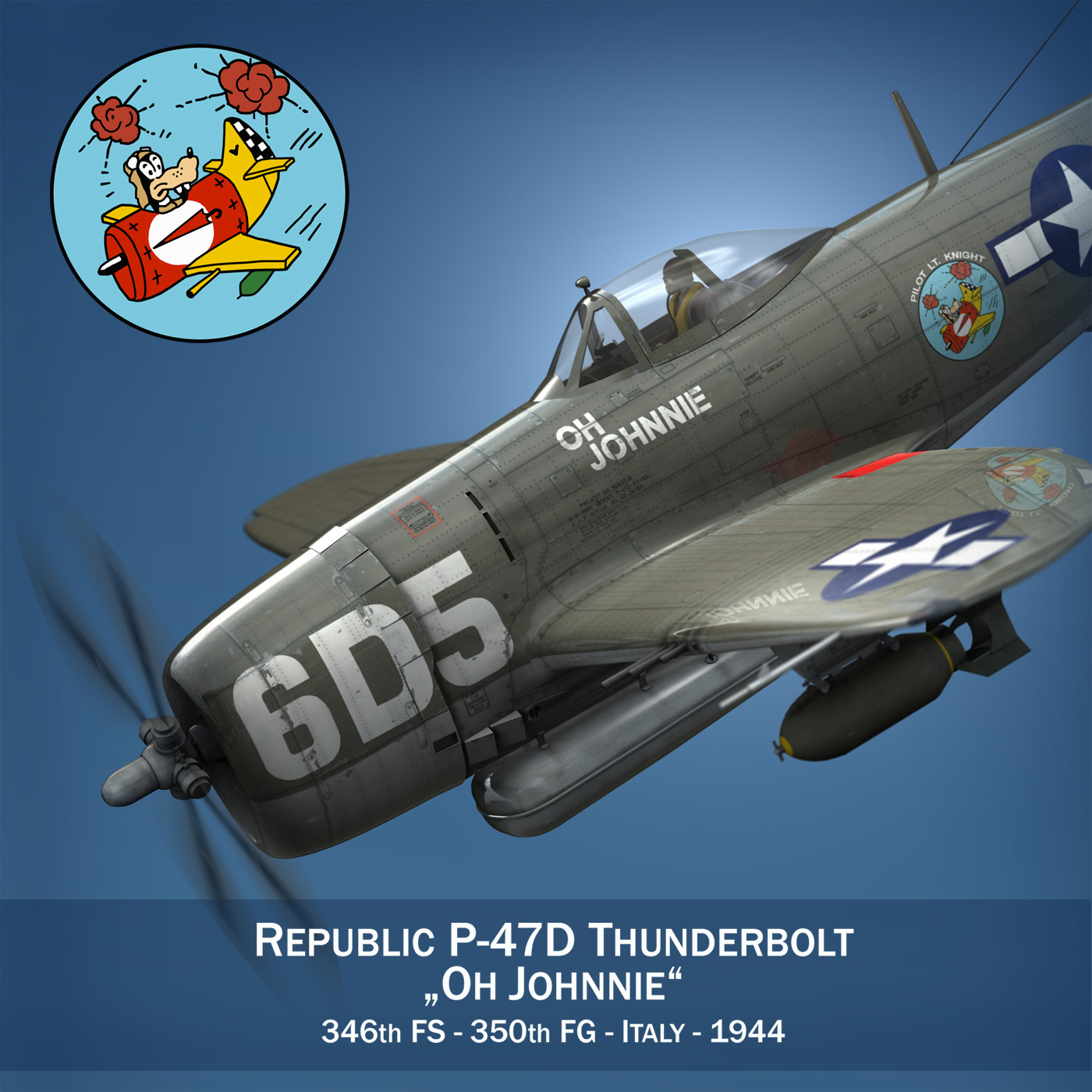 republic p-47 thunderbolt – oh johnnie 3d model fbx c4d lwo obj 274247