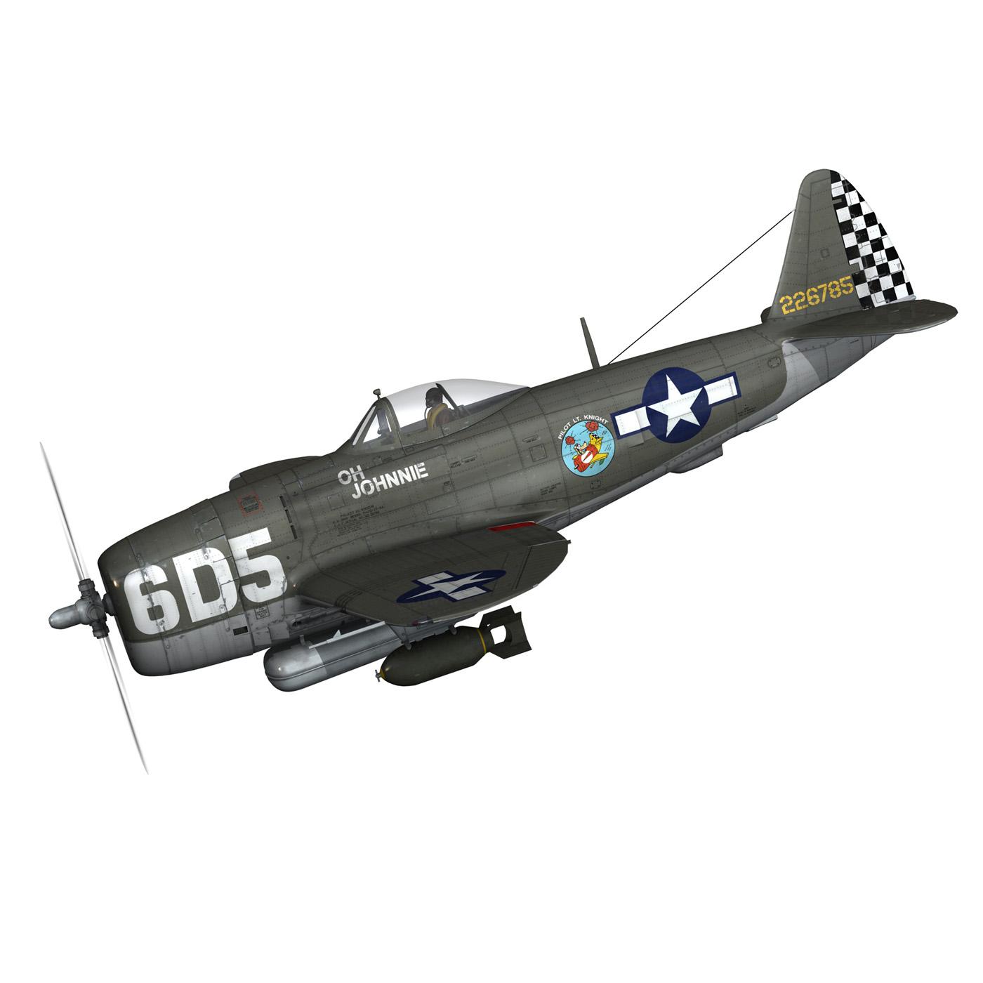 republic p-47 thunderbolt – oh johnnie 3d model fbx c4d lwo obj 274248