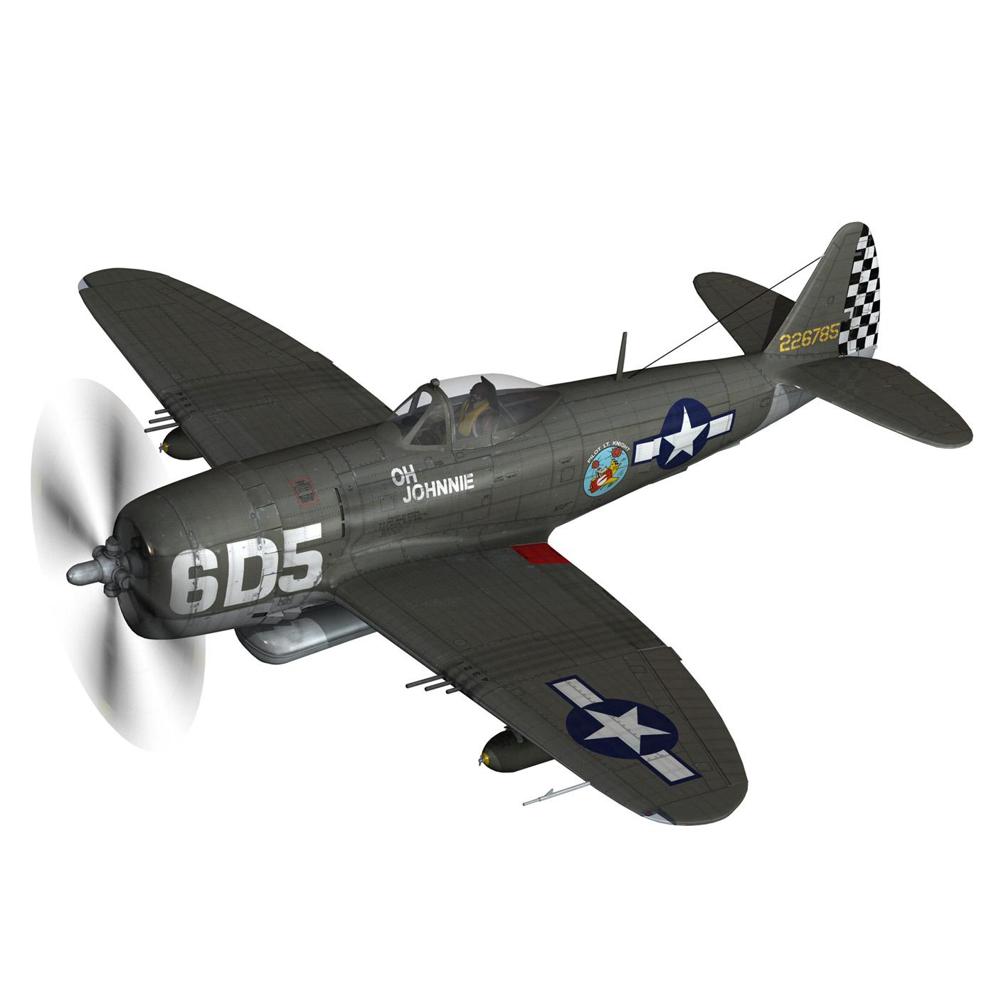 republic p-47 thunderbolt – oh johnnie 3d model fbx c4d lwo obj 274249