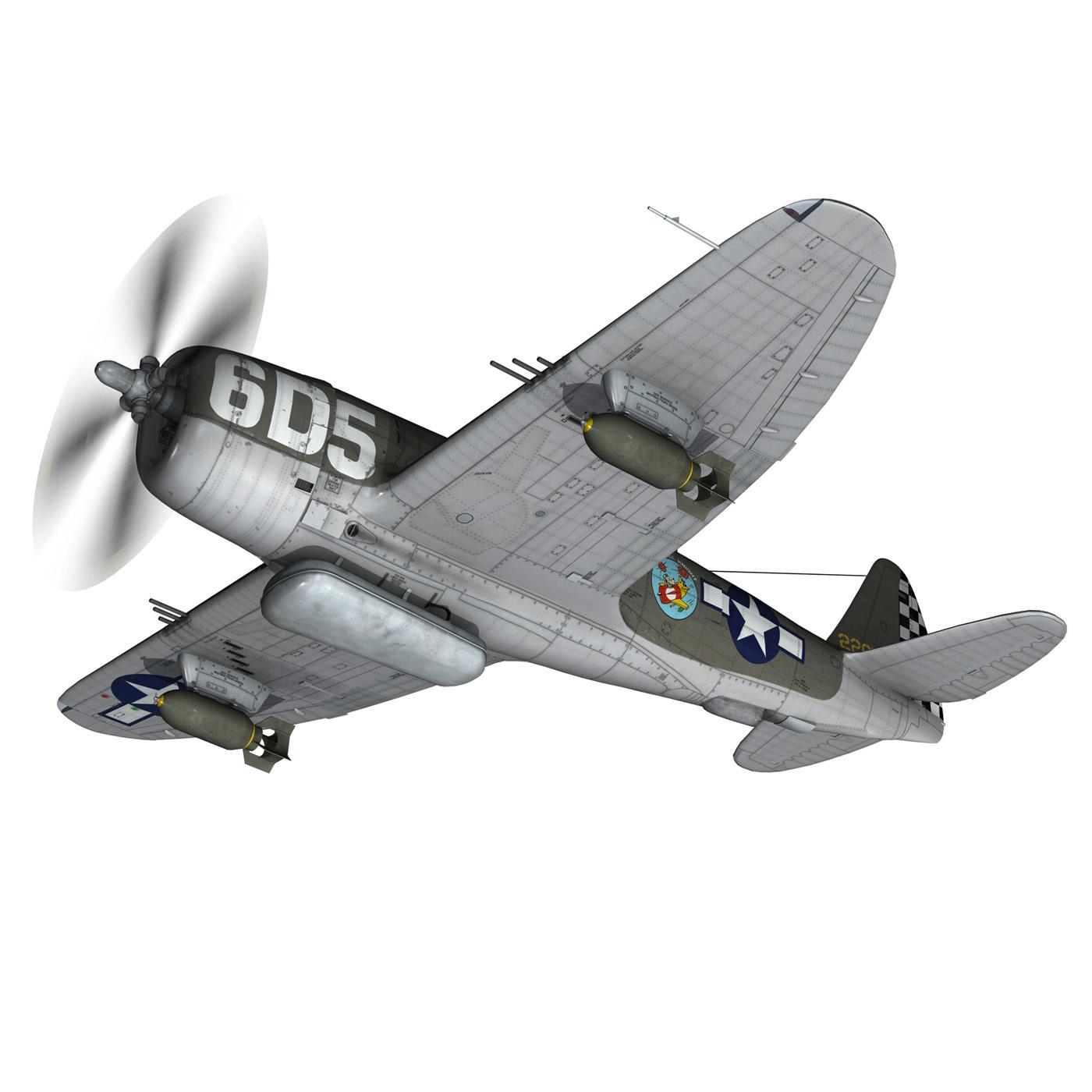 republic p-47 thunderbolt – oh johnnie 3d model fbx c4d lwo obj 274250