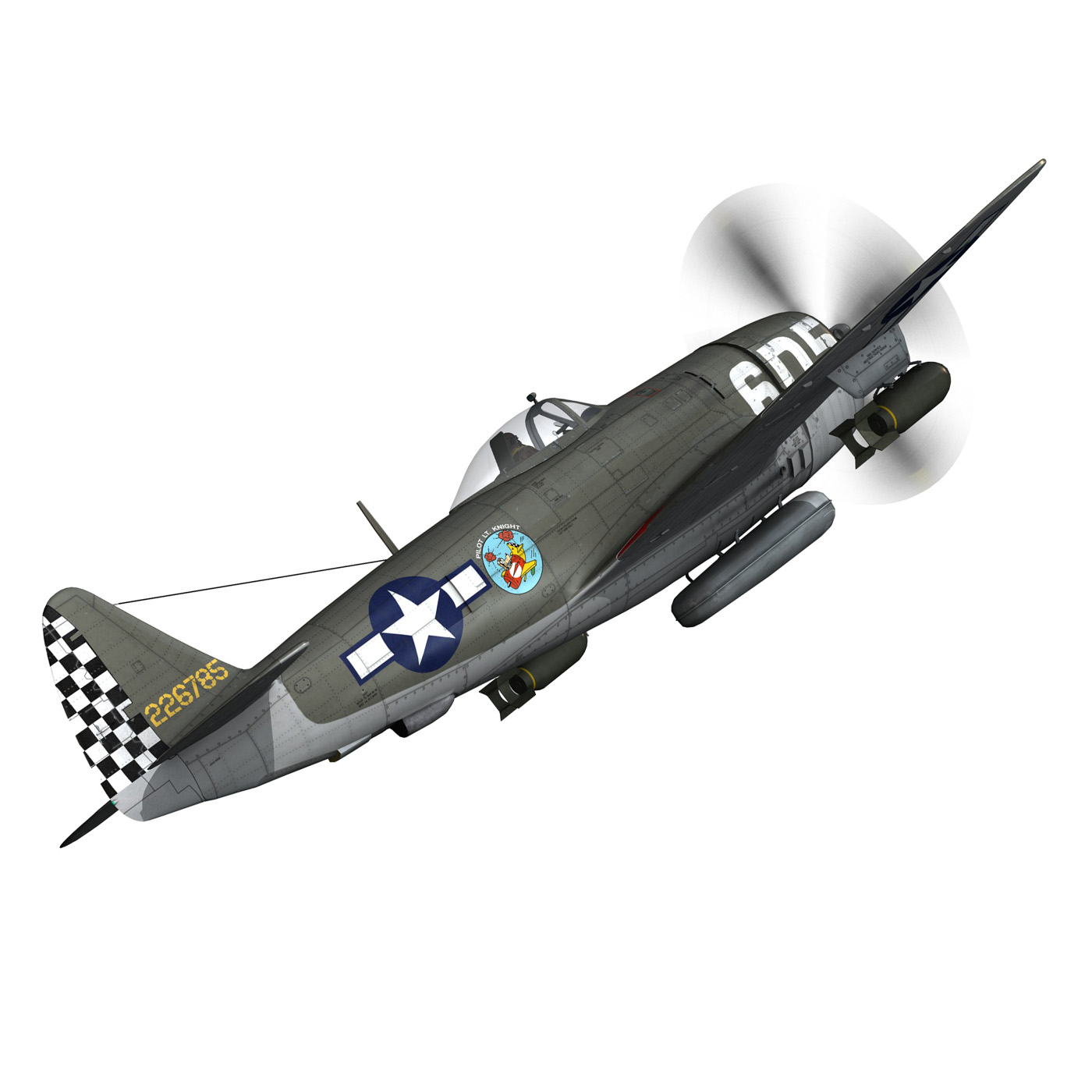 republic p-47 thunderbolt – oh johnnie 3d model fbx c4d lwo obj 274252