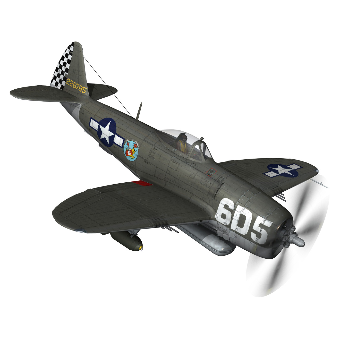 republic p-47 thunderbolt – oh johnnie 3d model fbx c4d lwo obj 274253