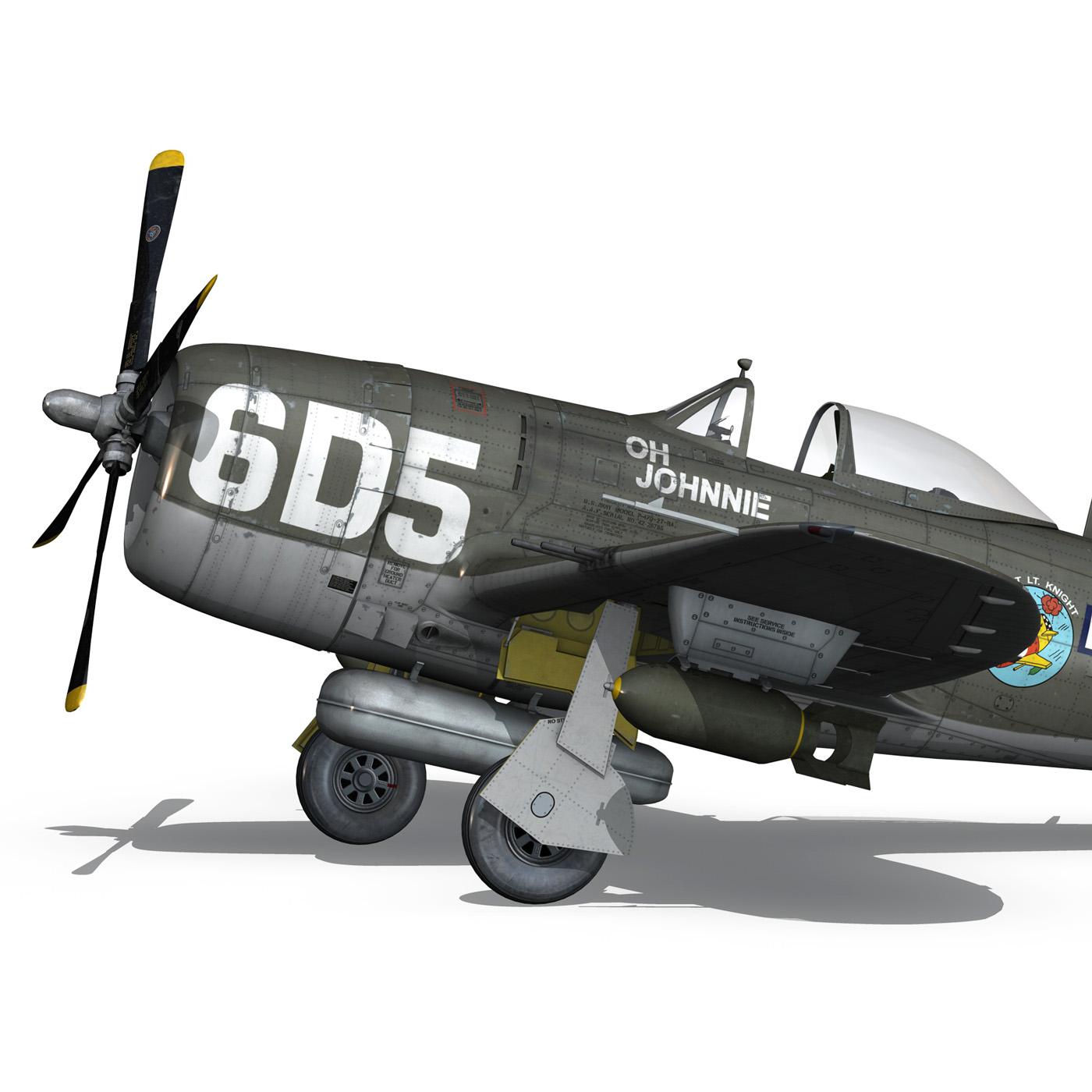 republic p-47 thunderbolt – oh johnnie 3d model fbx c4d lwo obj 274254