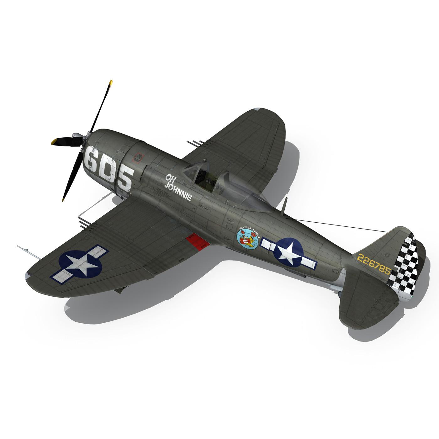 republic p-47 thunderbolt – oh johnnie 3d model fbx c4d lwo obj 274256