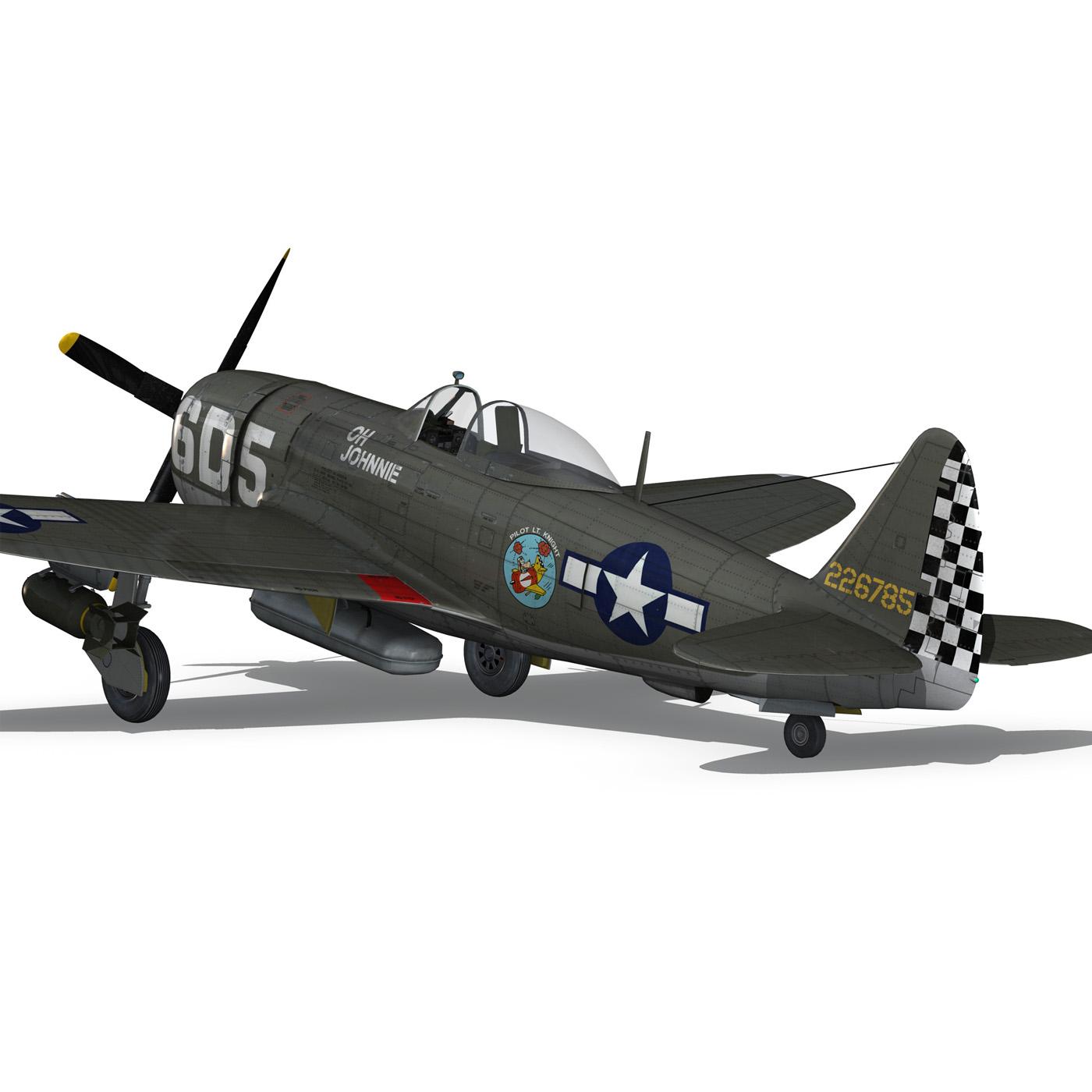 republic p-47 thunderbolt – oh johnnie 3d model fbx c4d lwo obj 274257