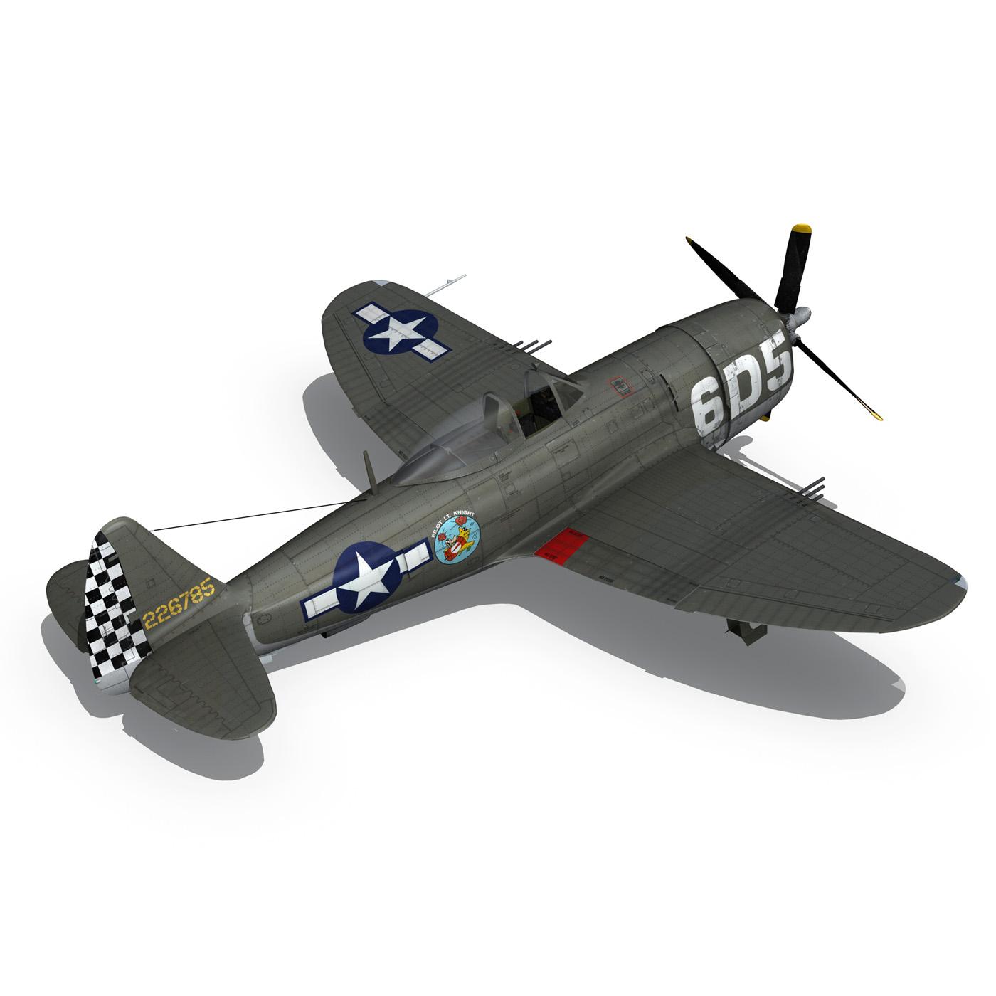 republic p-47 thunderbolt – oh johnnie 3d model fbx c4d lwo obj 274258