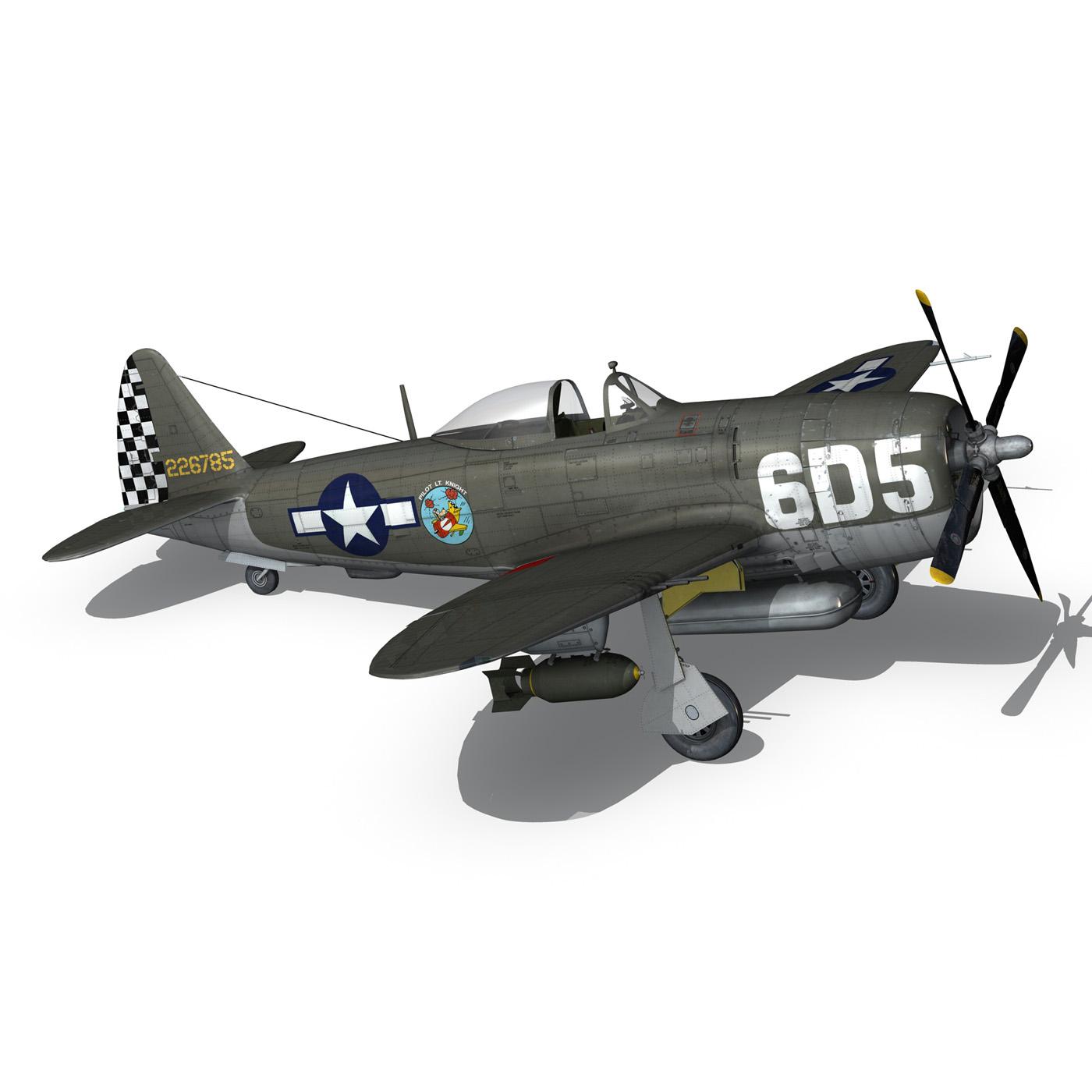 republic p-47 thunderbolt – oh johnnie 3d model fbx c4d lwo obj 274259