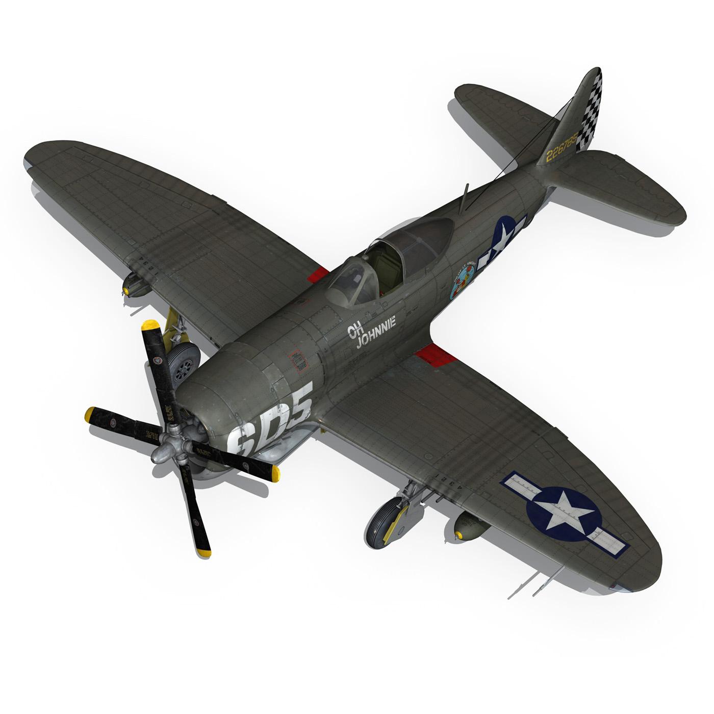 republic p-47 thunderbolt – oh johnnie 3d model fbx c4d lwo obj 274260