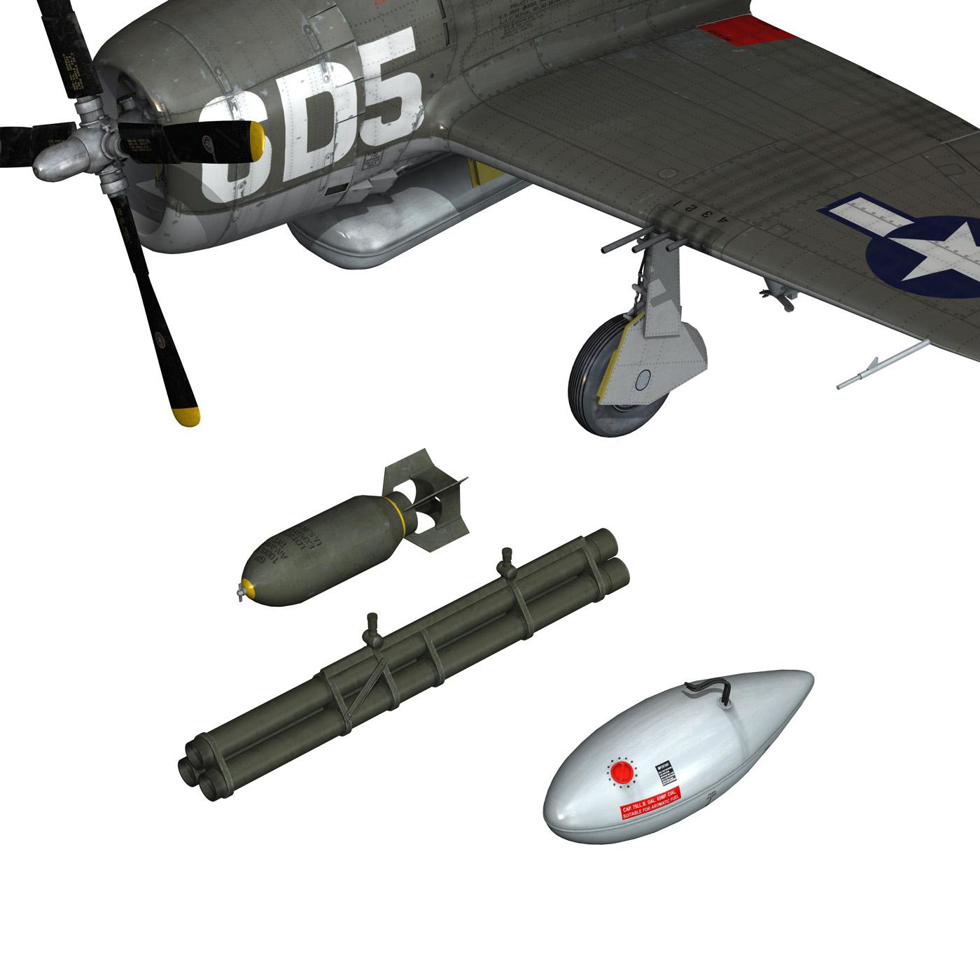 republic p-47 thunderbolt – oh johnnie 3d model fbx c4d lwo obj 274261