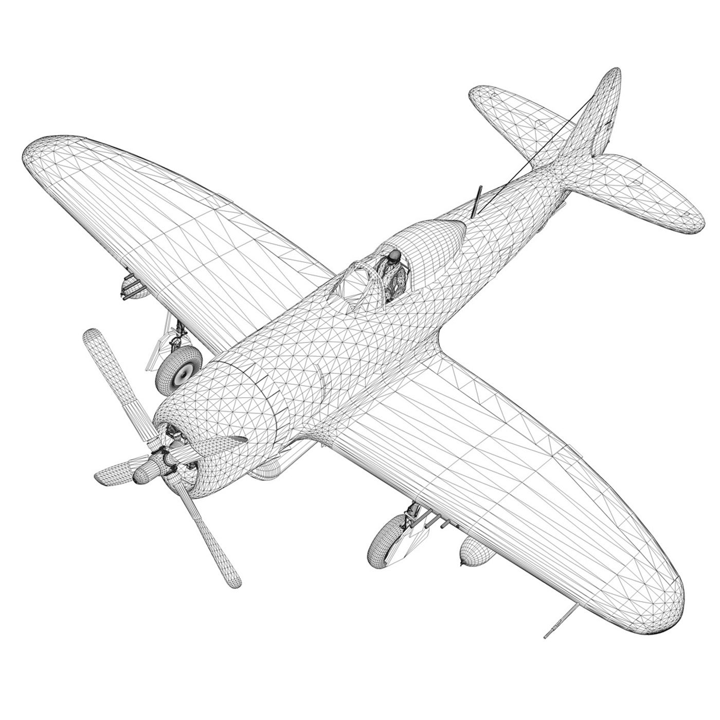 republic p-47 thunderbolt – oh johnnie 3d model fbx c4d lwo obj 274266