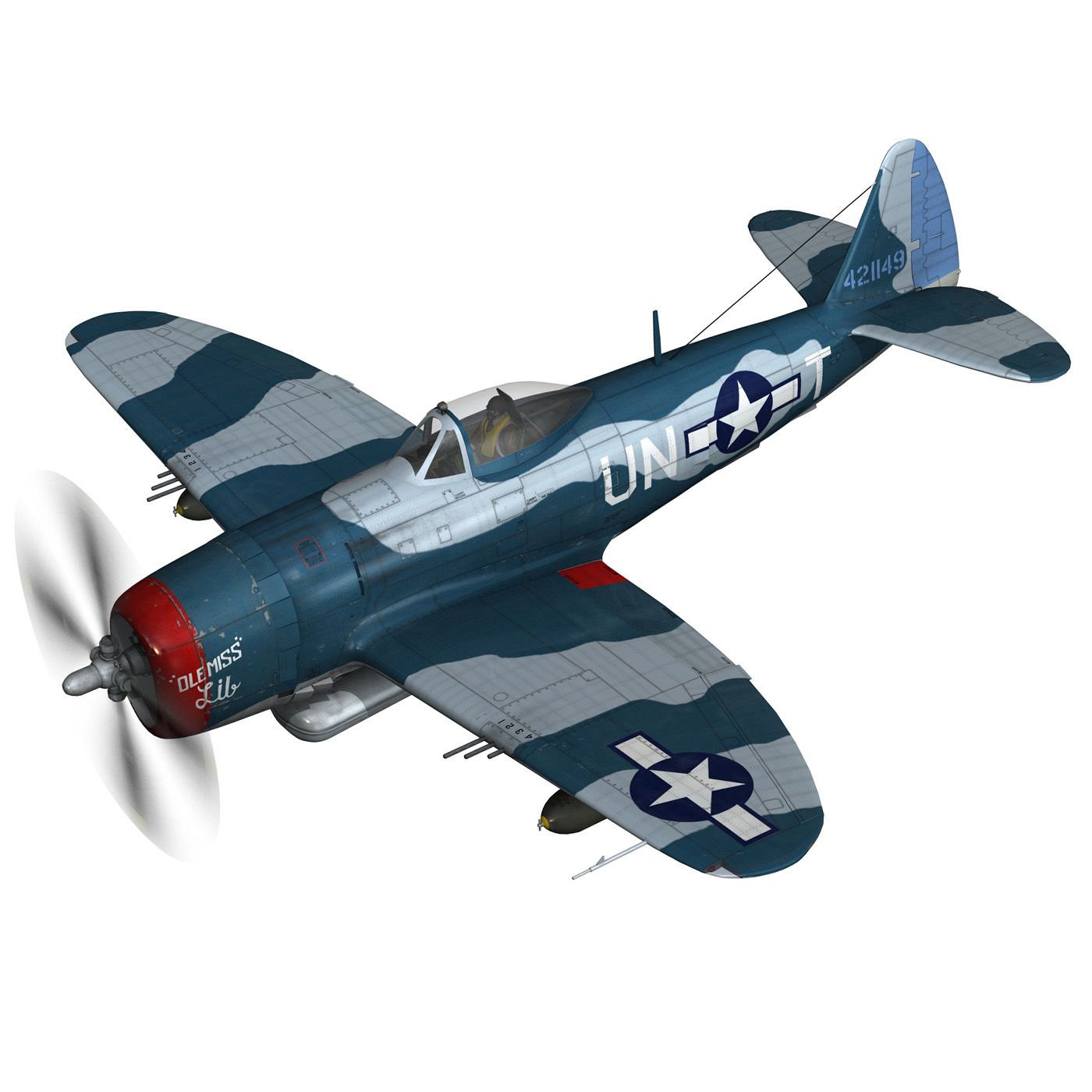 republic p-47 thunderbolt – ole miss lib 3d model fbx c4d lwo obj 274275