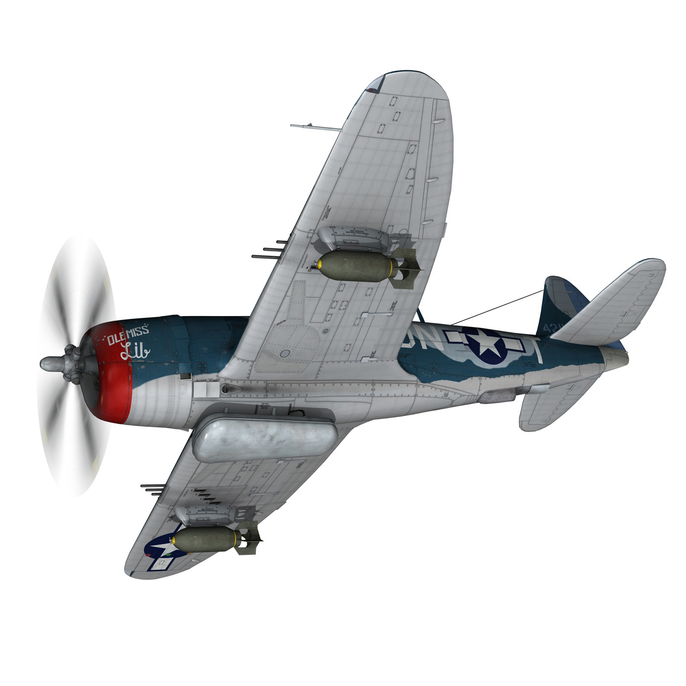 republic p-47 thunderbolt – ole miss lib 3d model fbx c4d lwo obj 274276