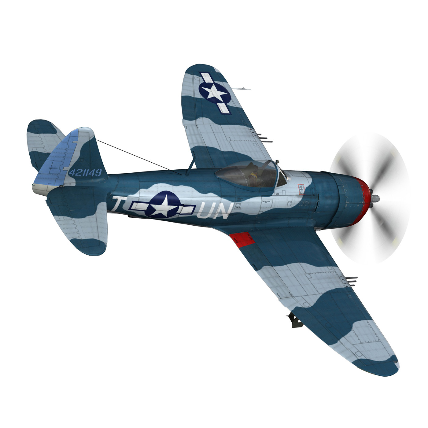 republic p-47 thunderbolt – ole miss lib 3d model fbx c4d lwo obj 274278