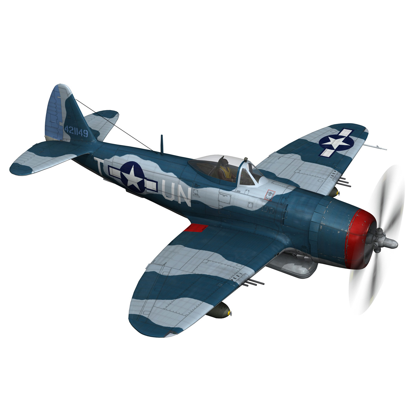republic p-47 thunderbolt – ole miss lib 3d model fbx c4d lwo obj 274280