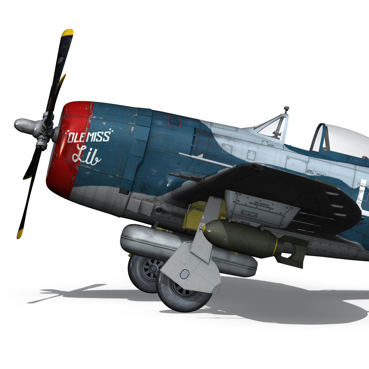 republic p-47 thunderbolt – ole miss lib 3d model fbx c4d lwo obj 274282