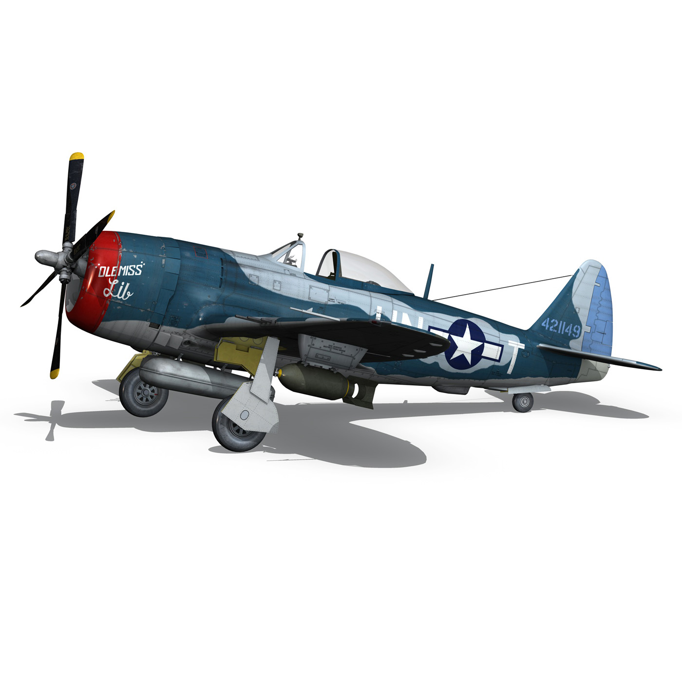 republic p-47 thunderbolt – ole miss lib 3d model fbx c4d lwo obj 274283