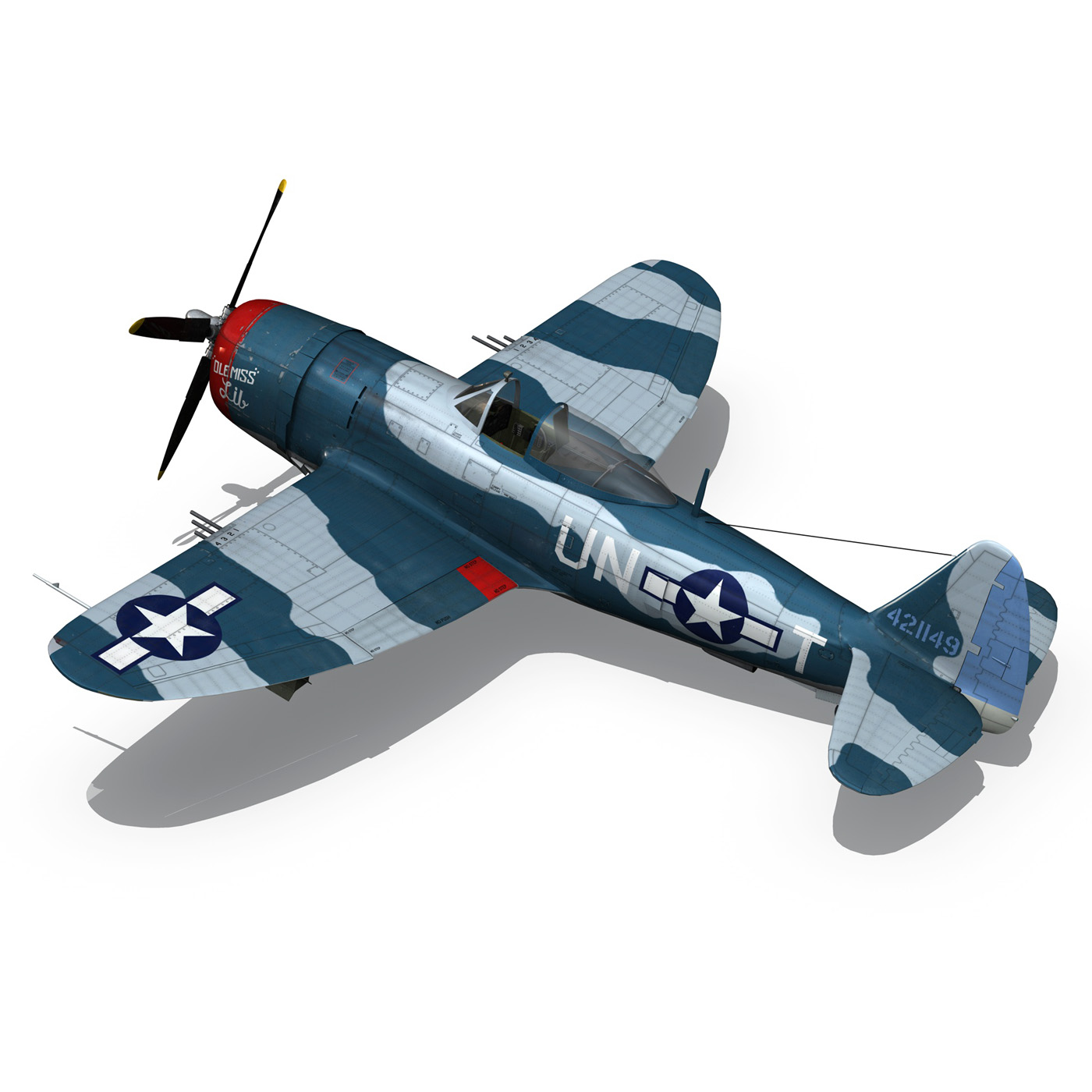 republic p-47 thunderbolt – ole miss lib 3d model fbx c4d lwo obj 274284