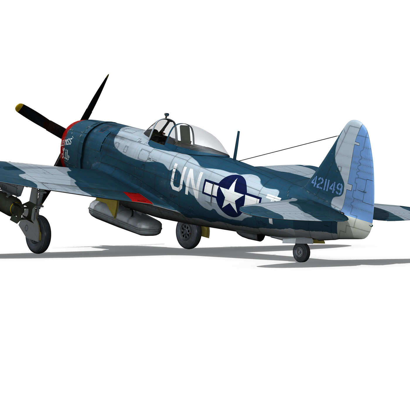 republic p-47 thunderbolt – ole miss lib 3d model fbx c4d lwo obj 274285
