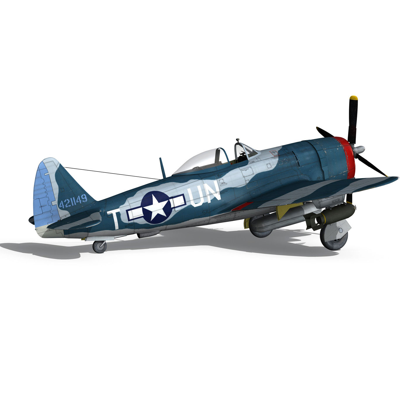 republic p-47 thunderbolt – ole miss lib 3d model fbx c4d lwo obj 274286