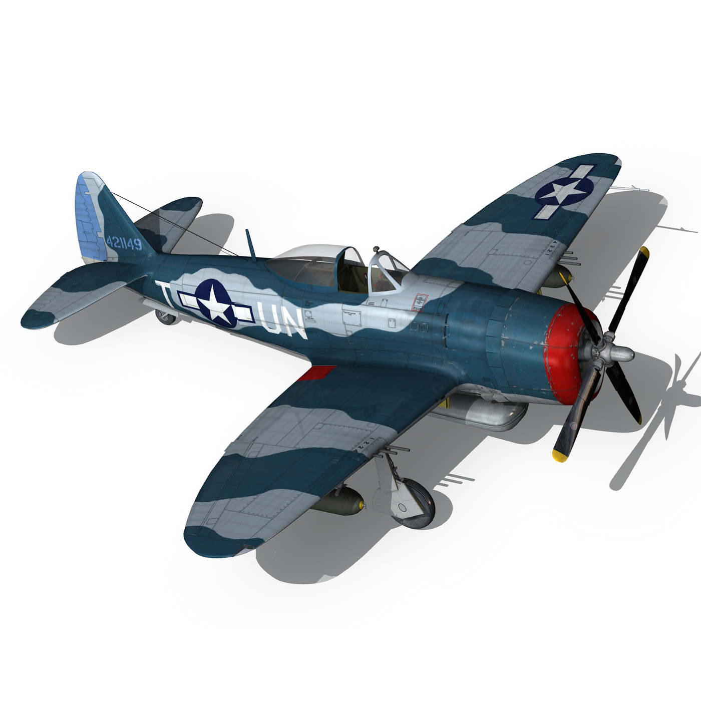 republic p-47 thunderbolt – ole miss lib 3d model fbx c4d lwo obj 274287