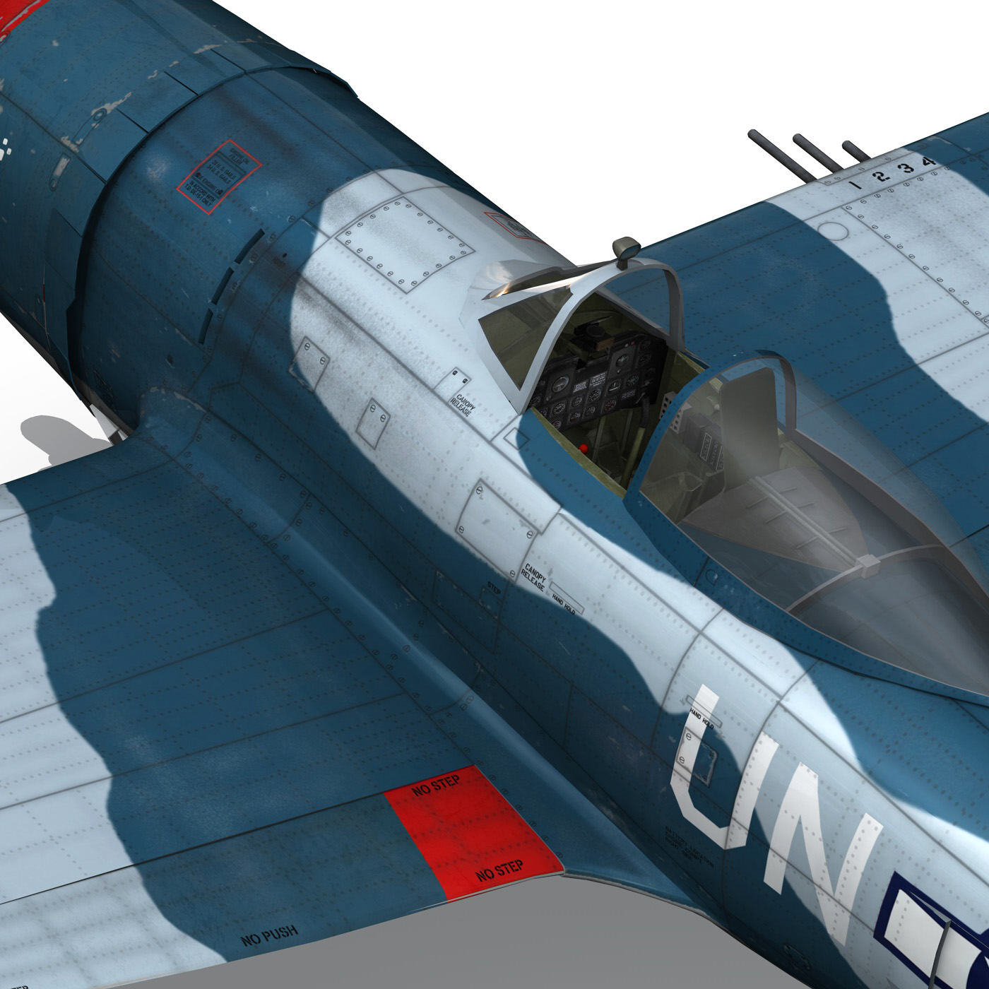 republic p-47 thunderbolt – ole miss lib 3d model fbx c4d lwo obj 274288