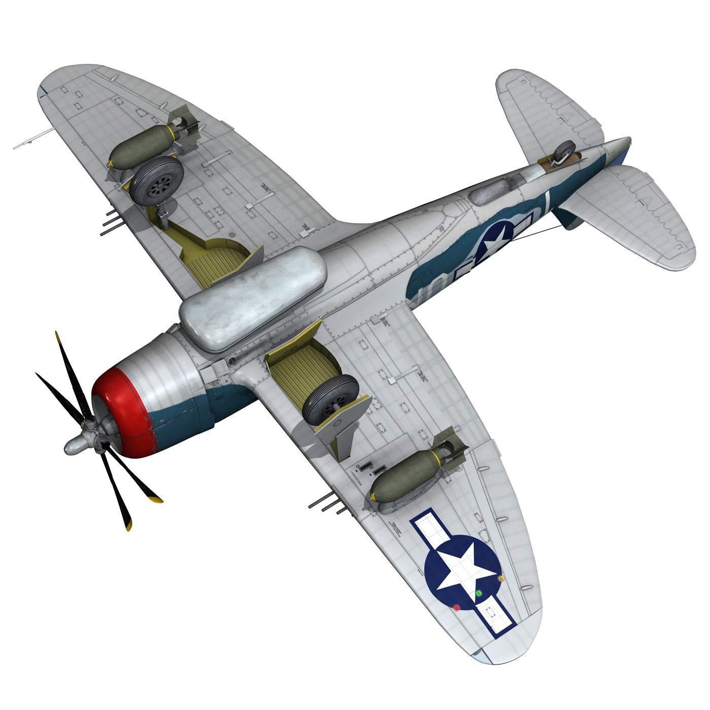 republic p-47 thunderbolt – ole miss lib 3d model fbx c4d lwo obj 274289