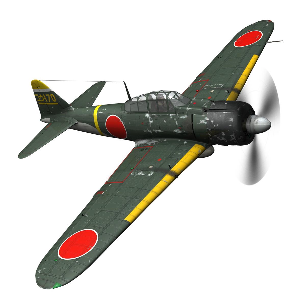 mitsubishi a6m2 zero – konoike kokutai 3d model fbx c4d lwo obj 274325