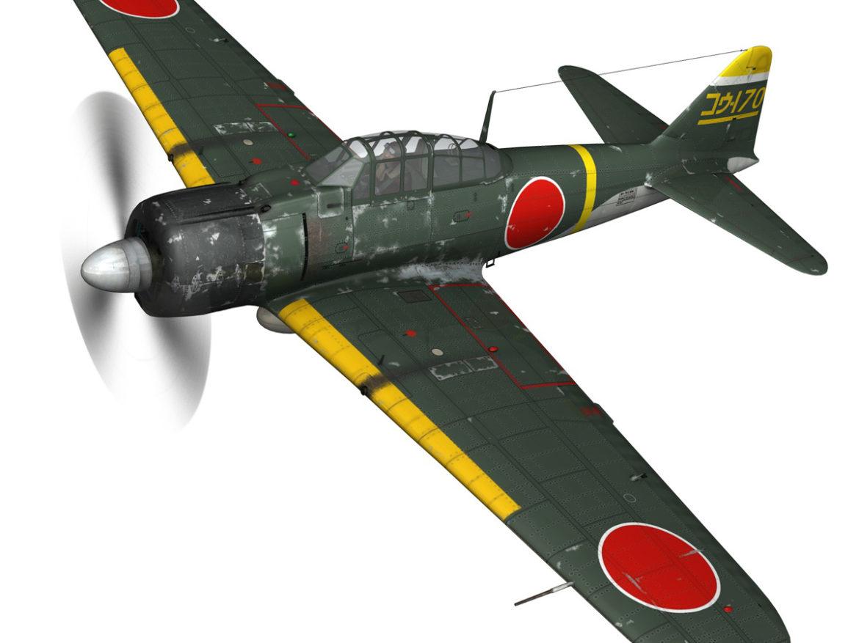 Mitsubishi A6M2 Zero - Konoike Kokutai 3d model  fbx c4d lwo lws lw obj