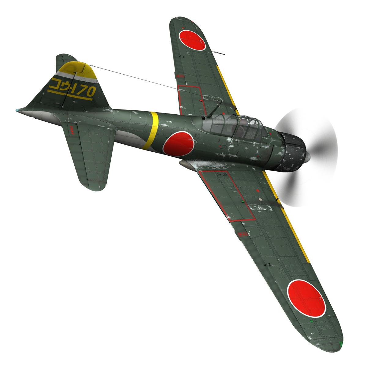 mitsubishi a6m2 zero – konoike kokutai 3d model fbx c4d lwo obj 274339