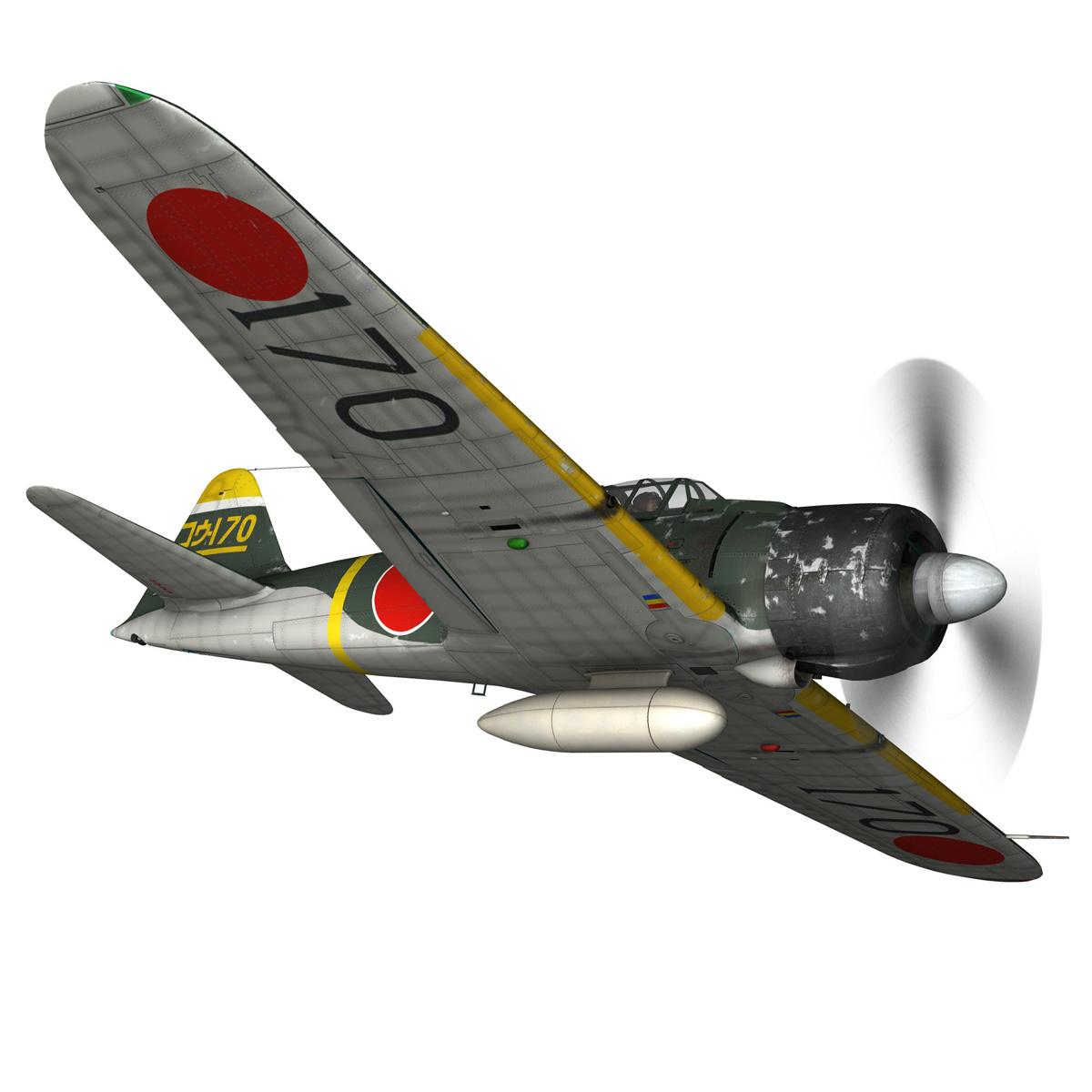 mitsubishi a6m2 zero – konoike kokutai 3d model fbx c4d lwo obj 274341