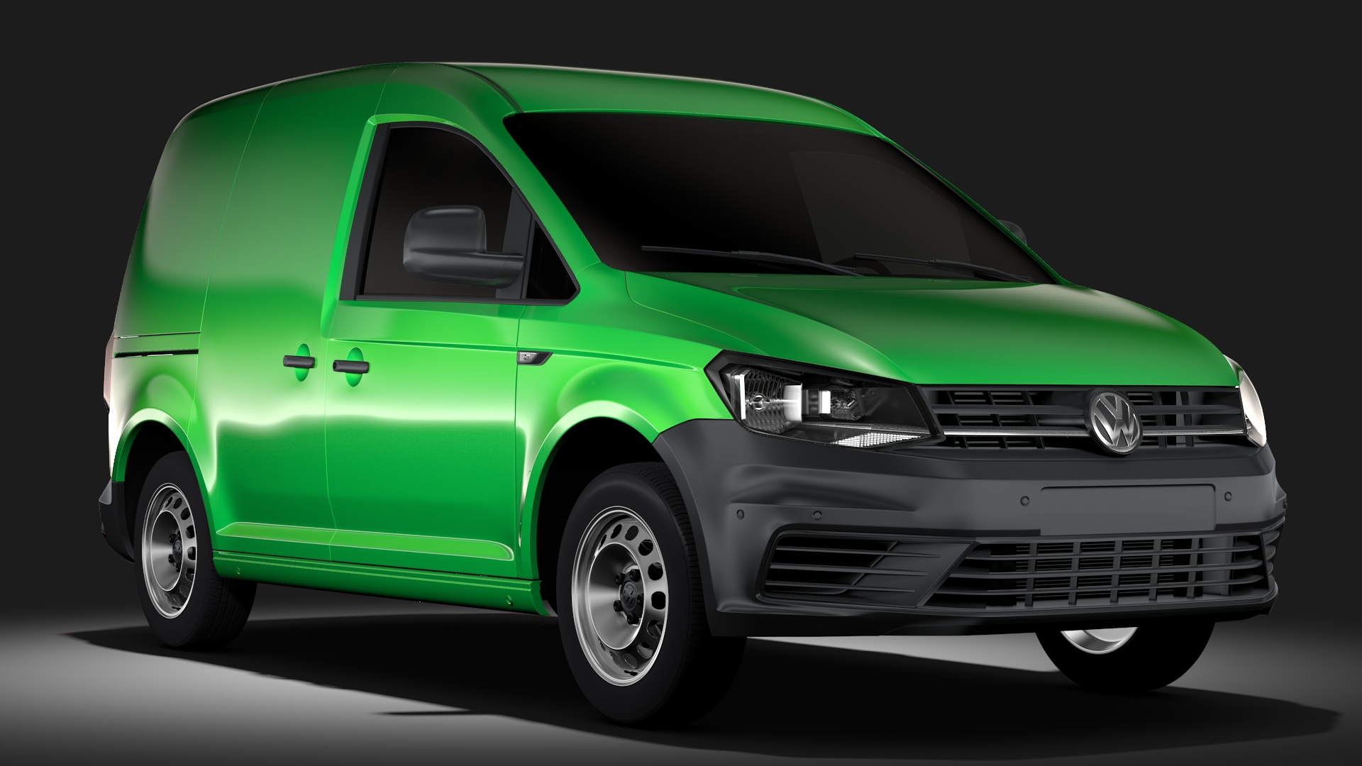 volkswagen caddy panel van l1 2017 3d model flatpyramid. Black Bedroom Furniture Sets. Home Design Ideas