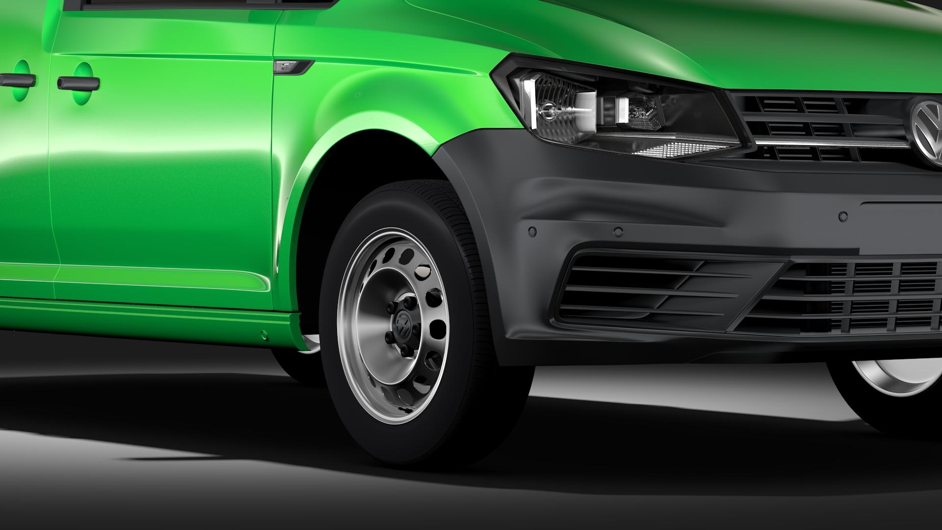 volkswagen caddy panel van l1 2017 3d model max fbx c4d lwo ma mb hrc xsi obj 274400